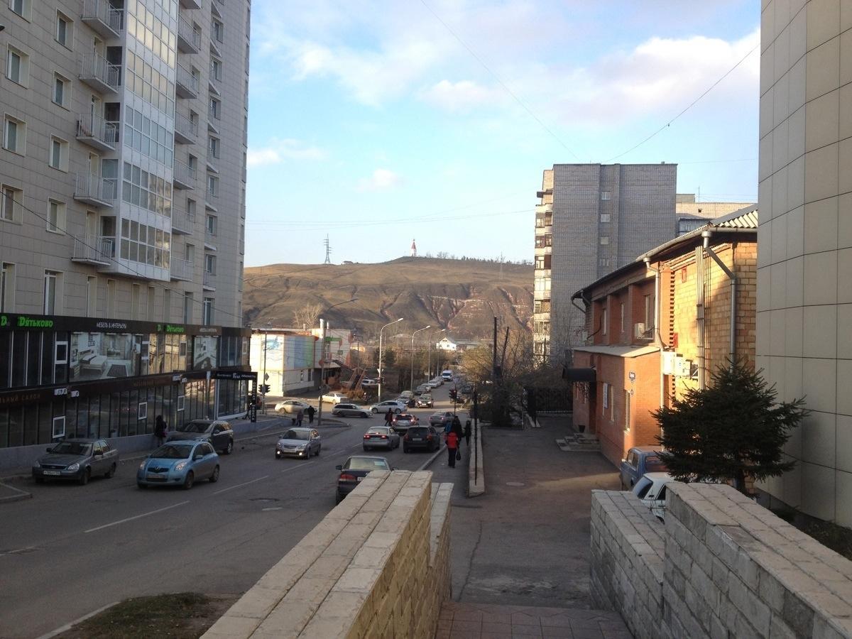 Einde van het centrum van Krasnoyarsk