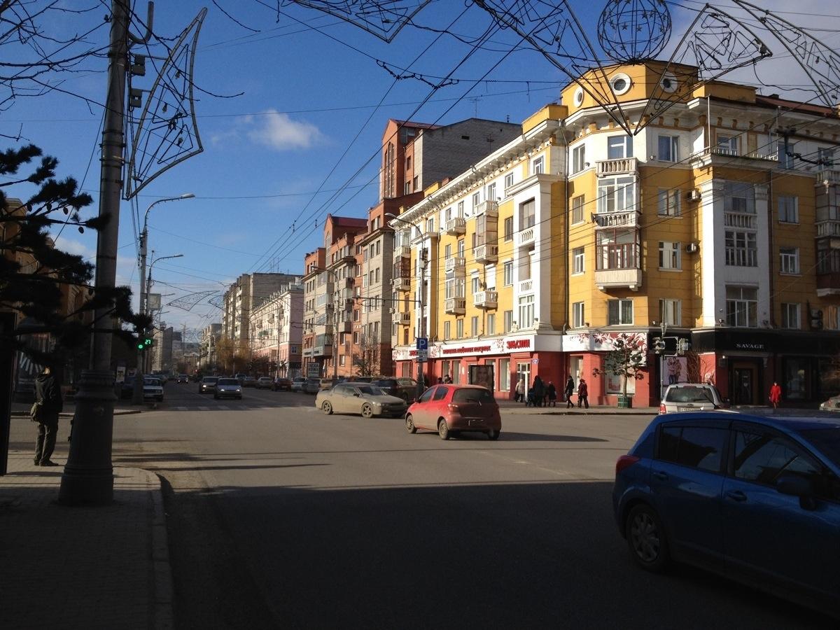 Straat in Krasnoyarsk