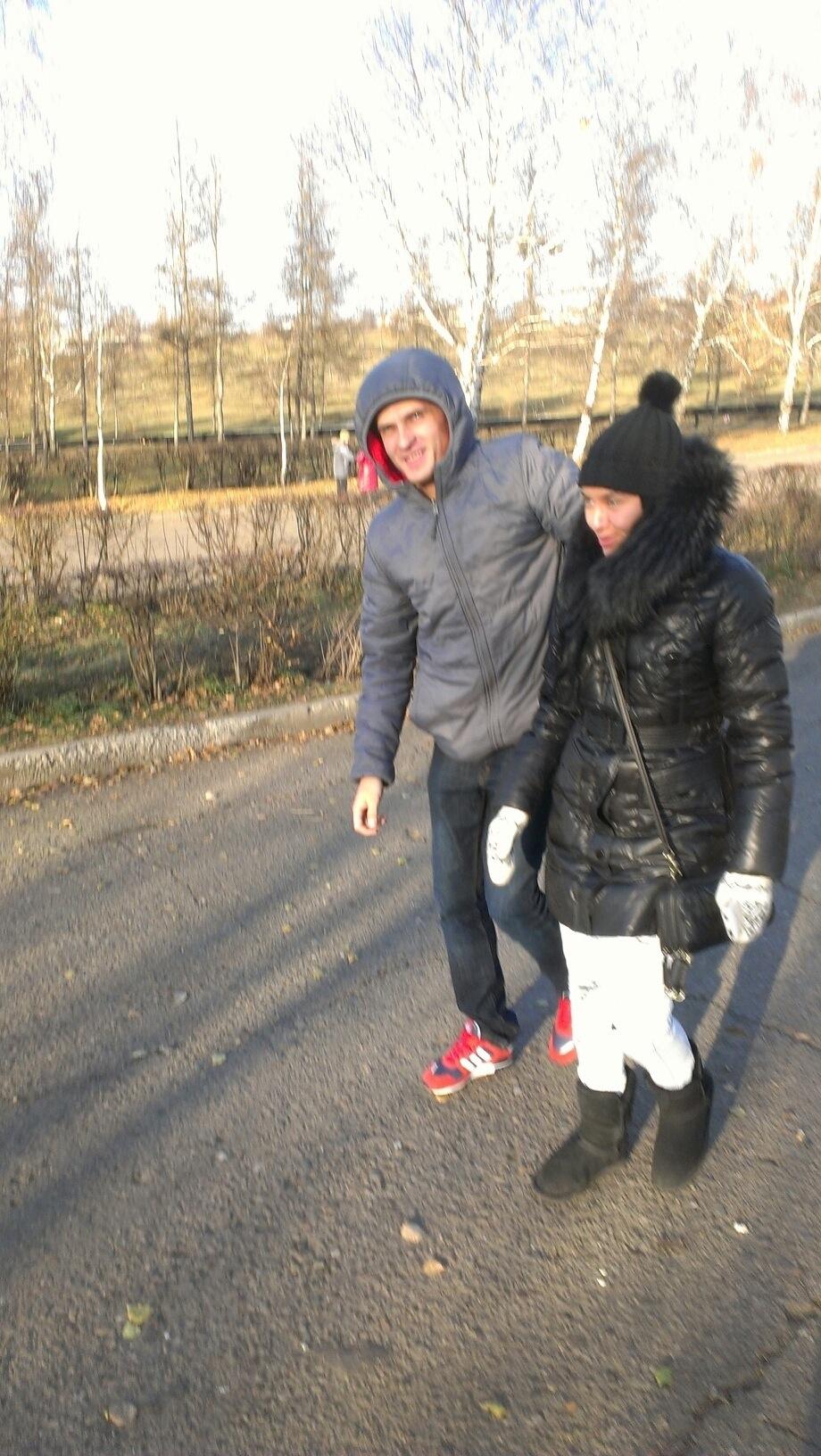 Natasja en Dennis in Kransoyarsk