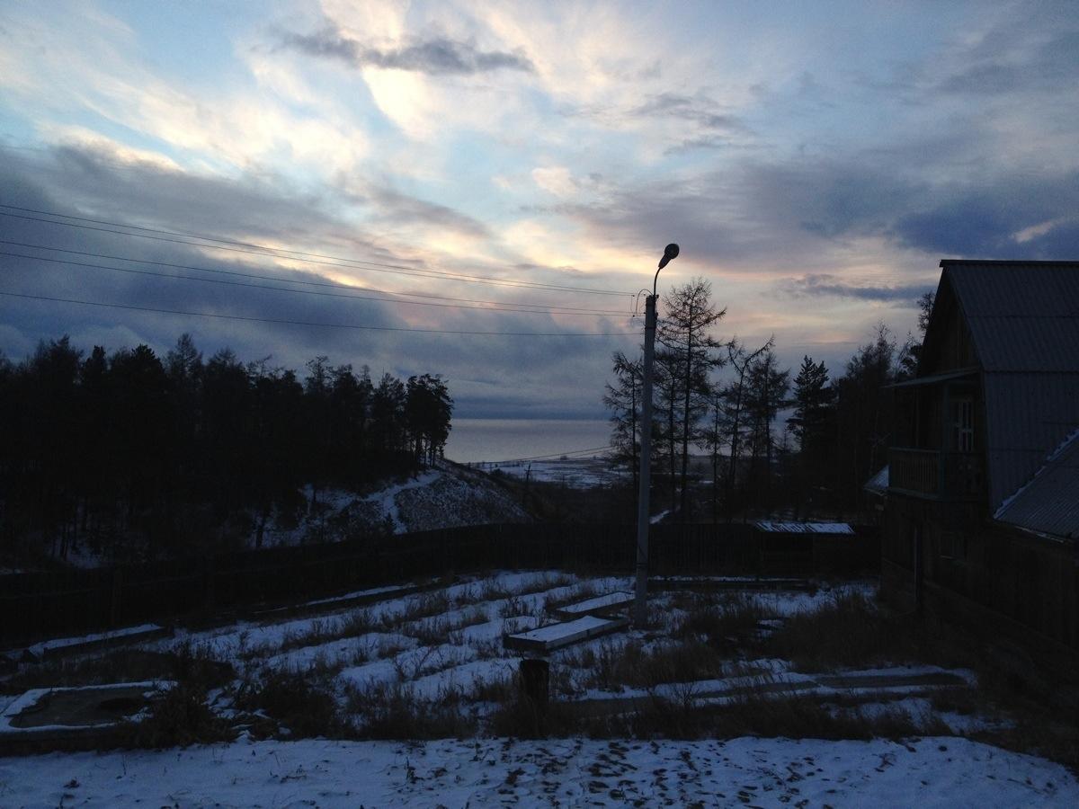 Baikalmeer. Uitzicht vanaf ons huis