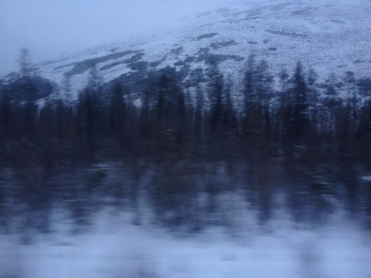 Oost Siberisch landschap in de namiddag