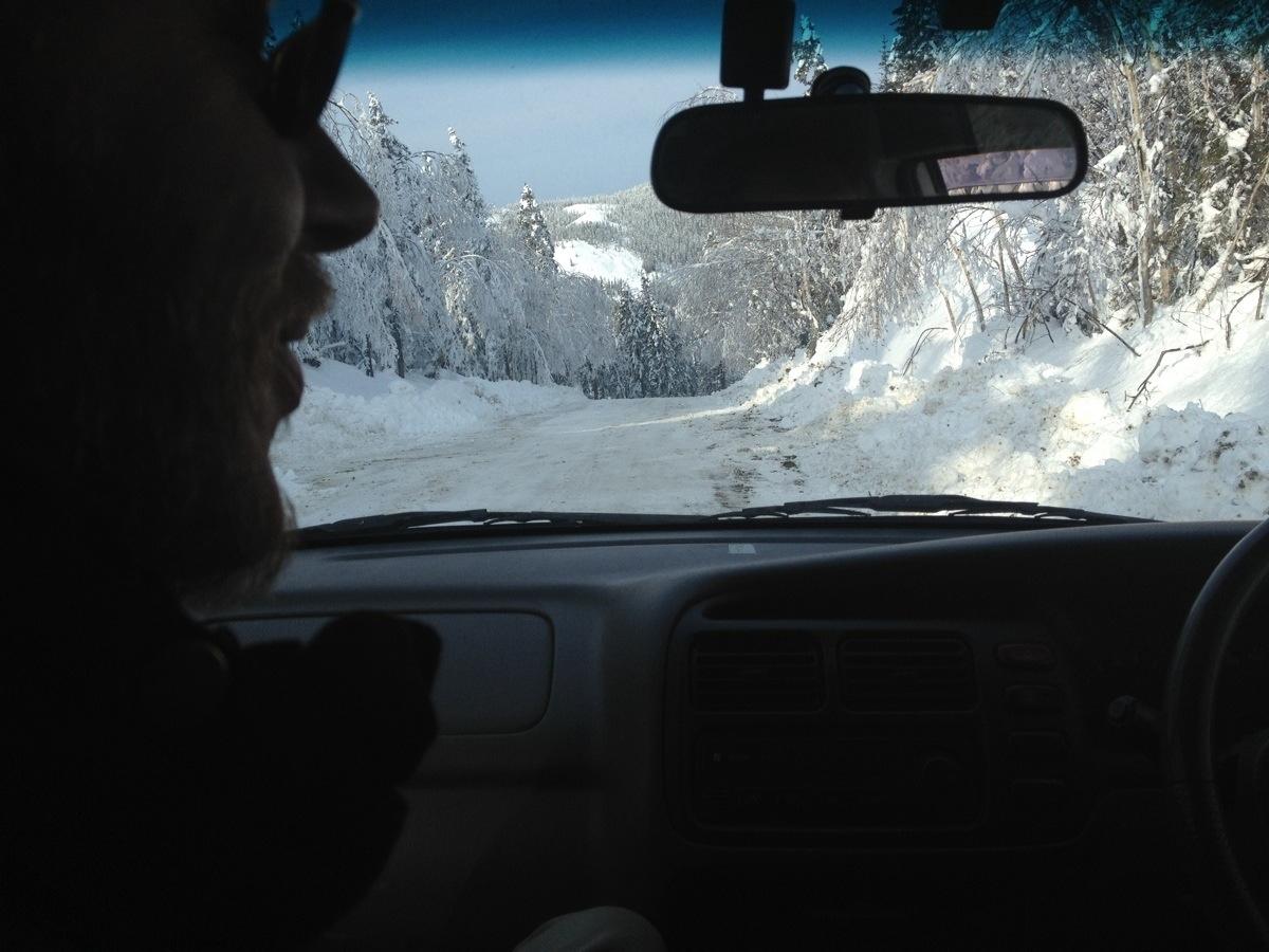 Albert op weg naar het skioord