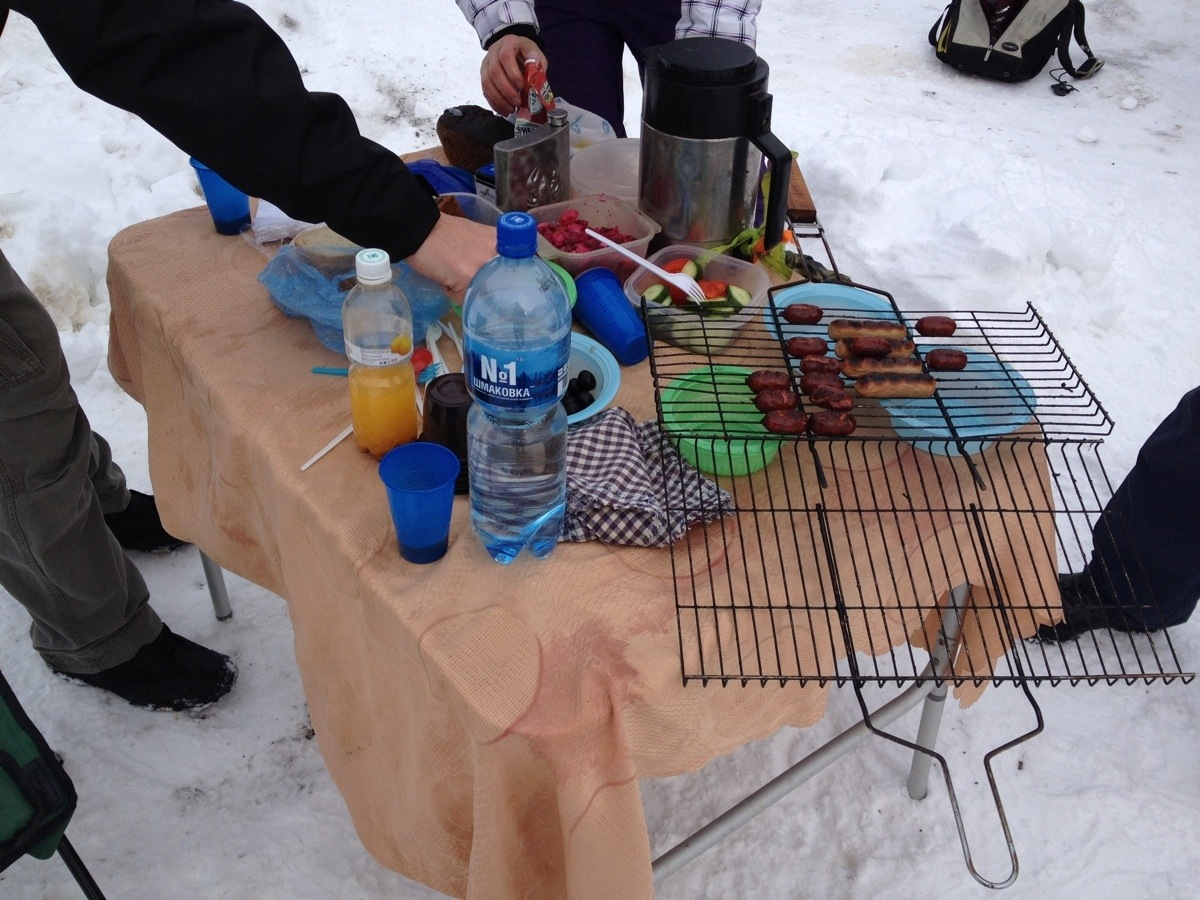 Snow barbecue