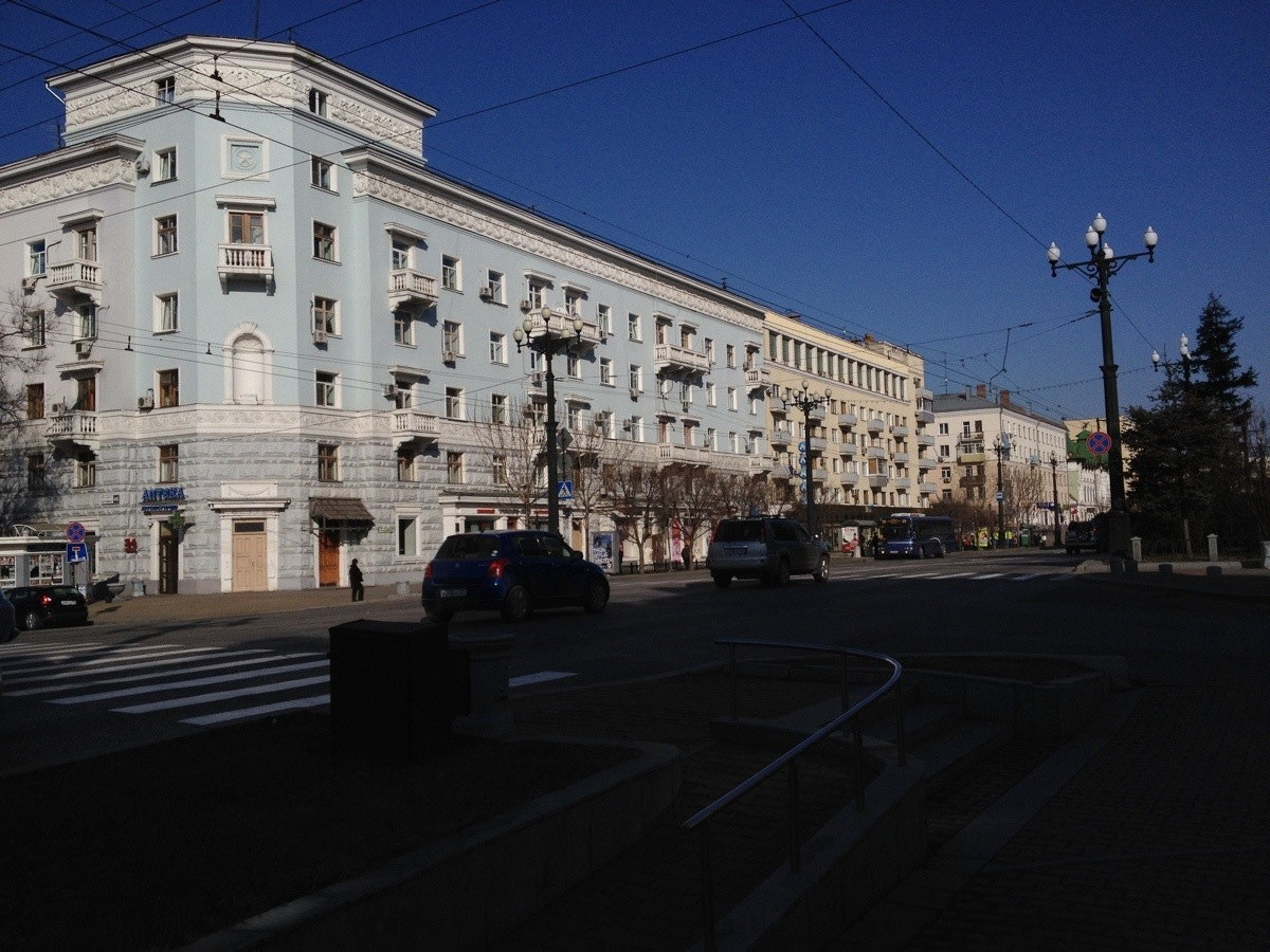 Corner at the Muravyov Amursky Street in Khabarosvk