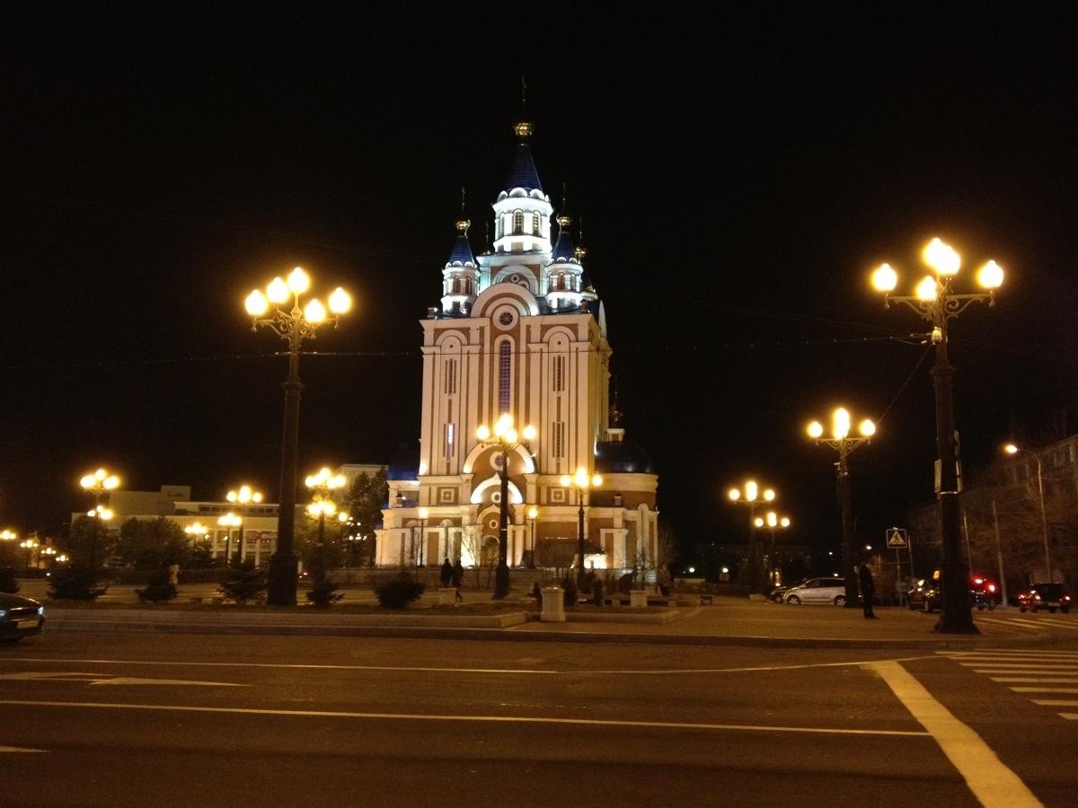 Dormition Cathedral Khabarovsk on Komsomolskaya Square