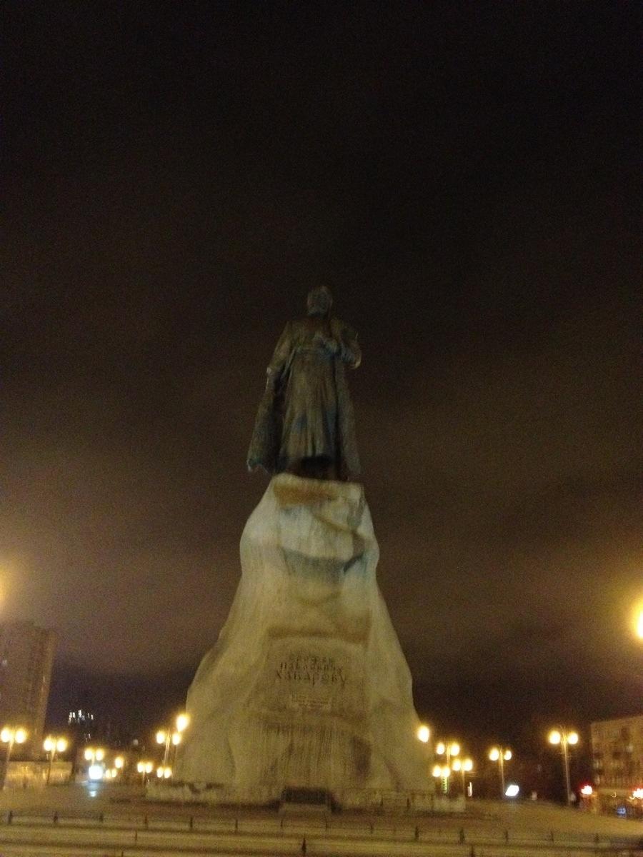Yerofey Khabarov Statue in Khabarovsk